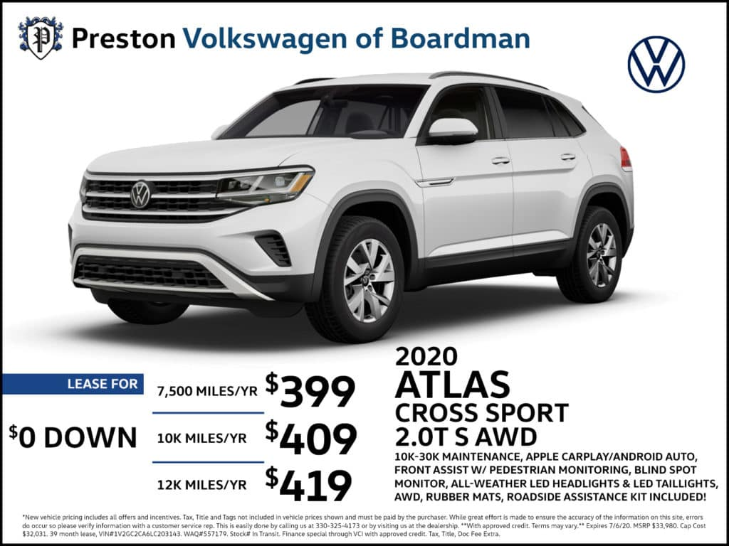 2020 Atlas Cross Sport 2.0T S AWD