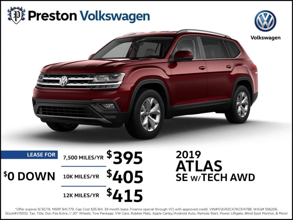 2019 Atlas SE w/ Tech AWD