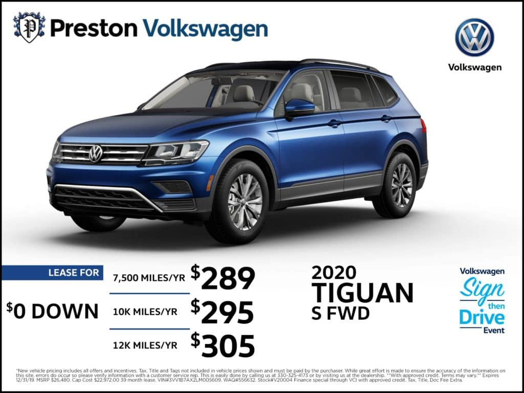 2020 Tiguan S FWD w/Driver Assistance