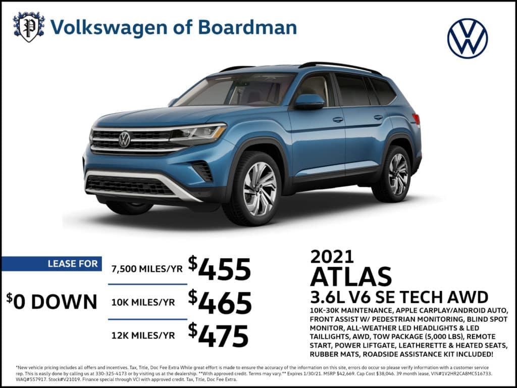 2021 Atlas SE w/ Tech AWD