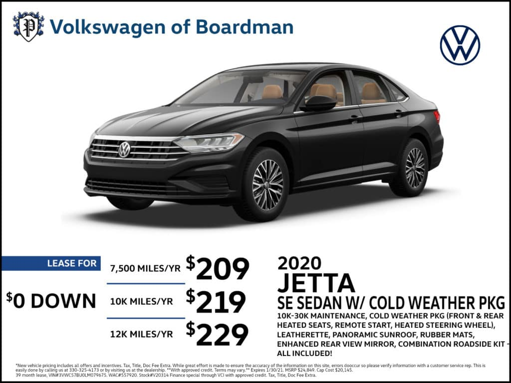 2020 Jetta SE w/ Cold Weather Package