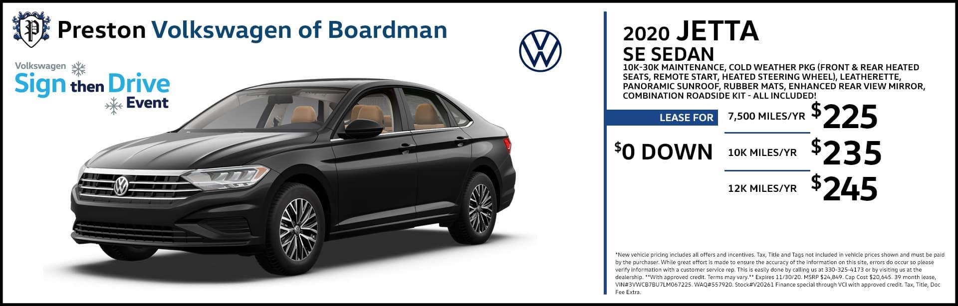 November special on the 2020 Volkswagen Jetta