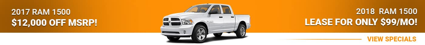 Ram 1500 Save $12,000 Off MSRP Or Lease For $99/mo!