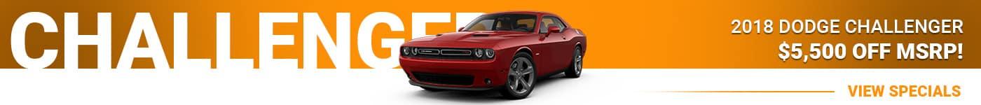 2018 Dodge Challenger Save $5,500 Off MSRP