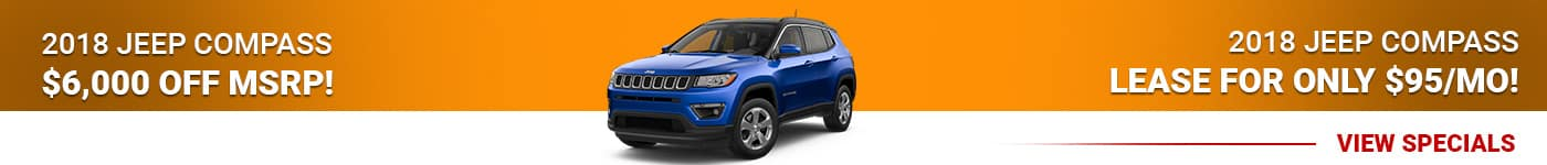 2018 Jeep Compass Save $6,000 Off MSRP Or Lease For $95/mo