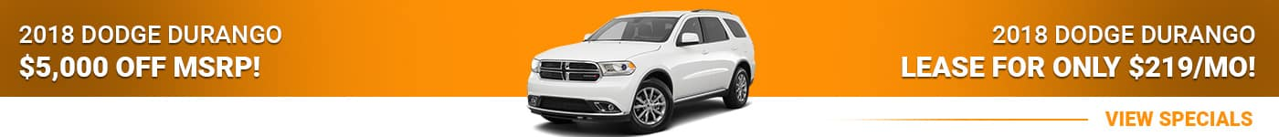 2018 Dodge Durango Save $5,000 Off MSRP Or Lease For $219/mo