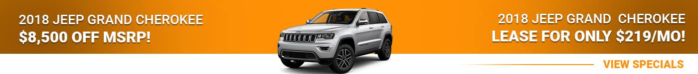 2018 Jeep Grand Cherokee Save $8,500 Or Lease For $219/mo