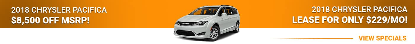 2018 Chrysler Pacifica Save $8,500 Or Lease For $229/mo