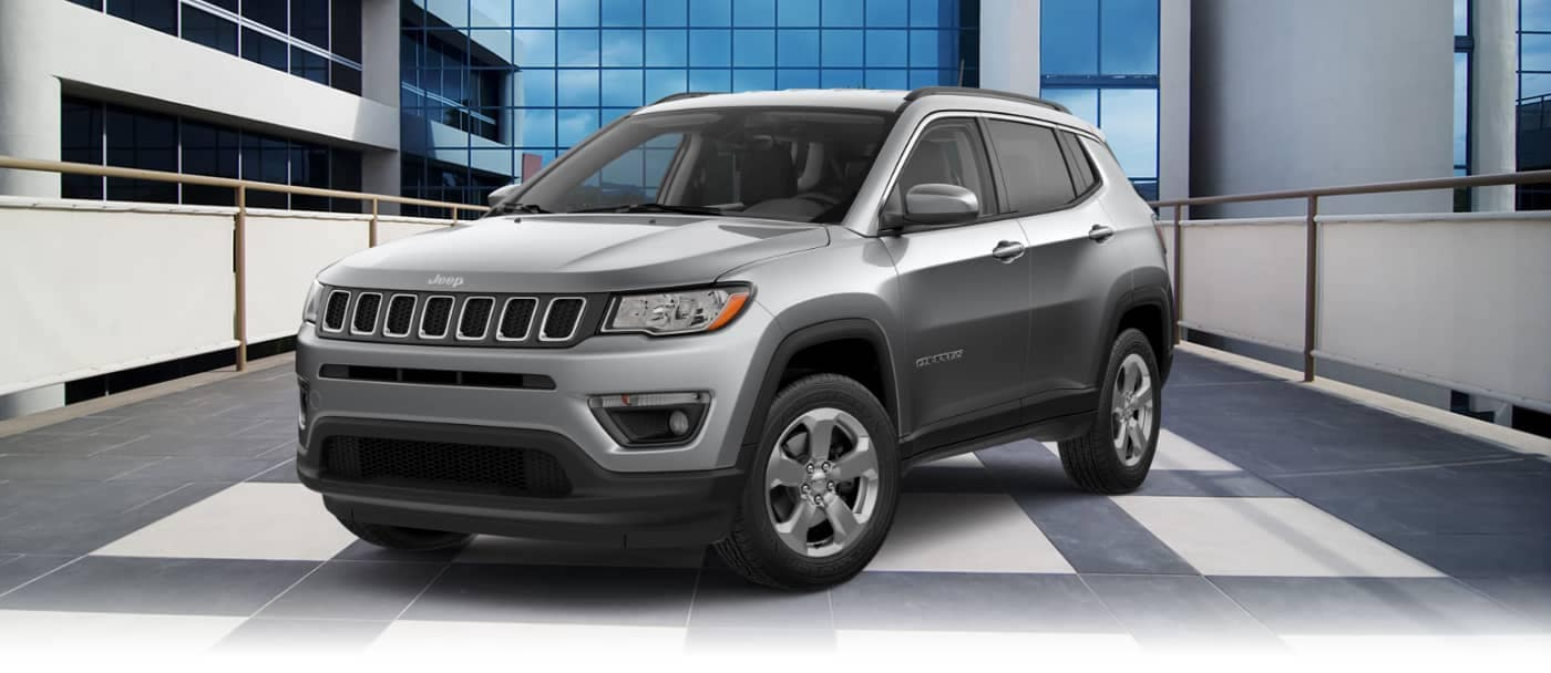 Jeep Compass in showroom