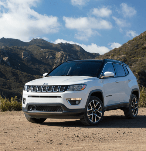 White Jeep Compass exterior