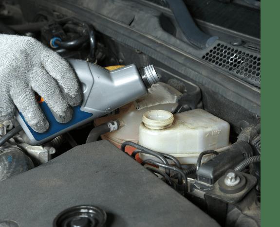 adding oil in a car