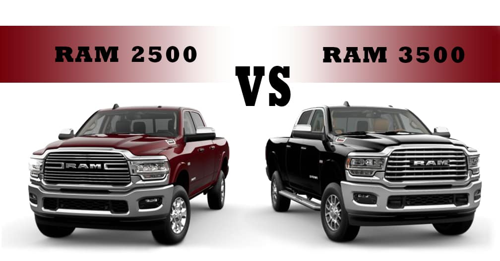 2021 Ram 2500 and Ram 3500, side by side