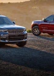 Two Jeeps side by side