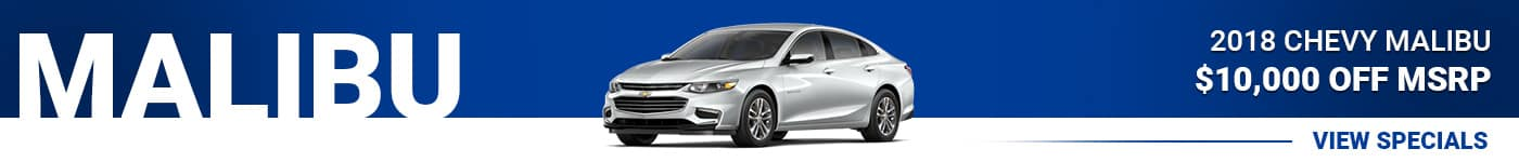 Chevy Malibu Special Offer -- Save $10,000 Off MSRP