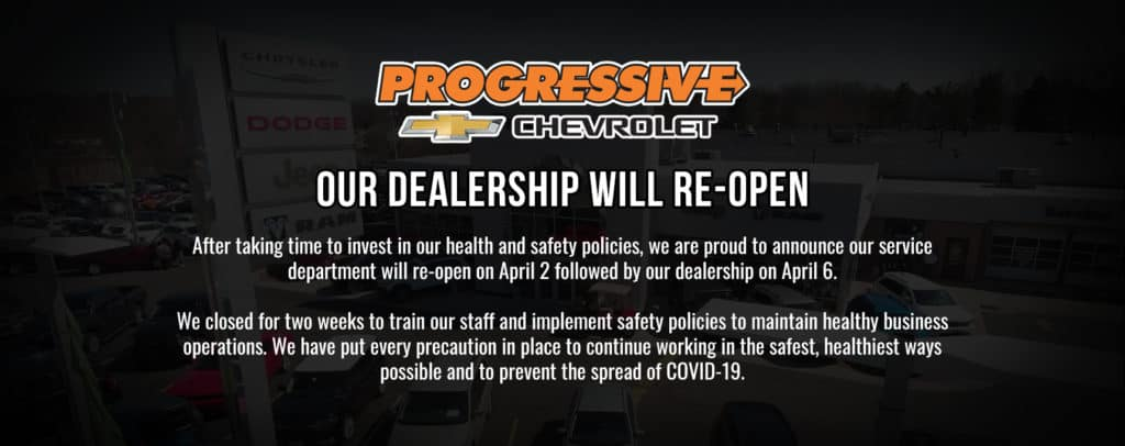 Progressive Chevy Re-Opening