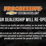 Progressive Chevy Re-Opening