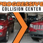 Progressive Collision Center Before and After Vehicle Repair