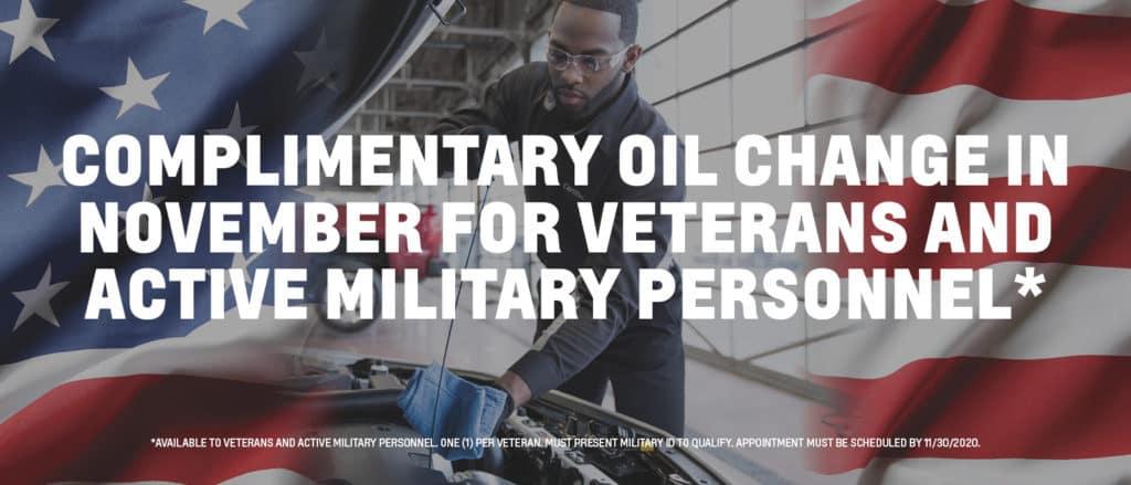 Veteran's Oil Changes