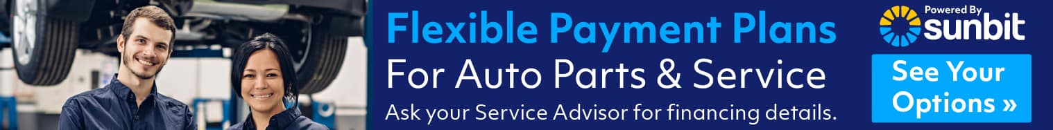 Flexible Playment Plans for Auto Parts and Service