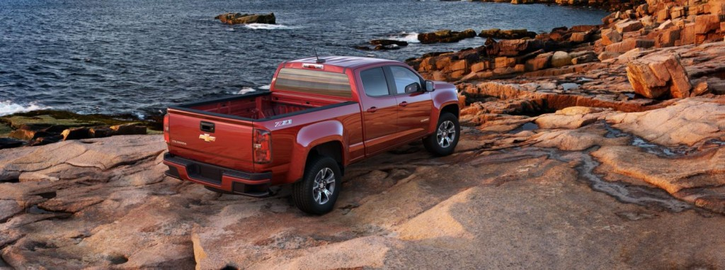 Chevrolet Colorado back side angle view