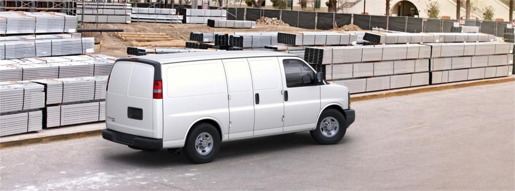 Chevrolet Express back side view
