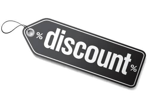 Discount-Grey tag