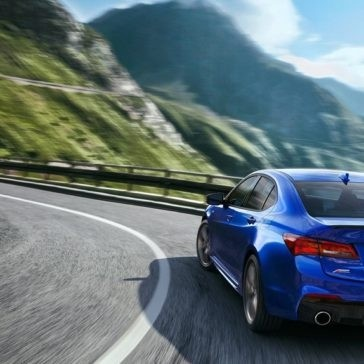 2018 Blue Acura TLX