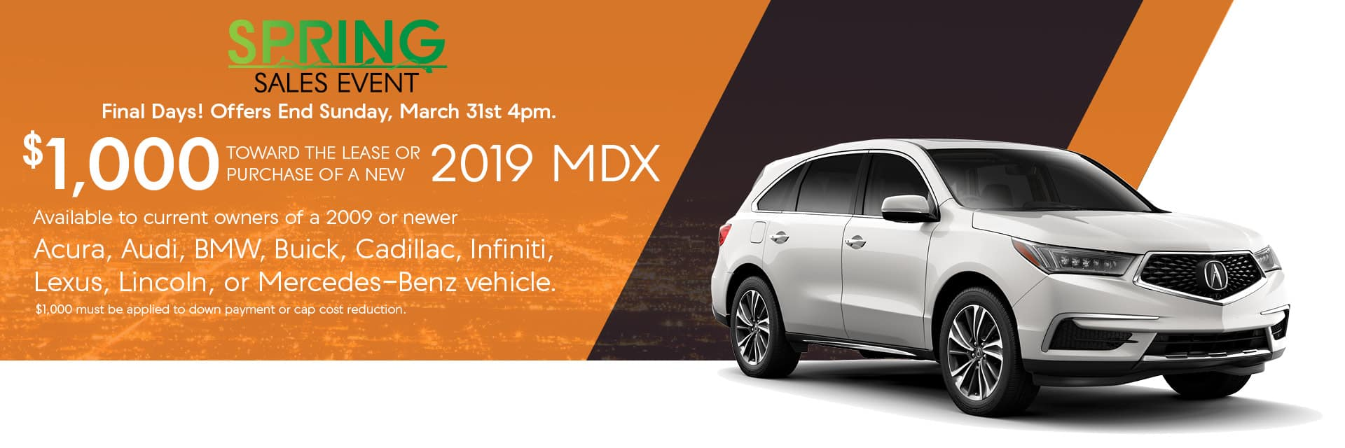 Certified Pre-Owned Acura Spring Sales Event