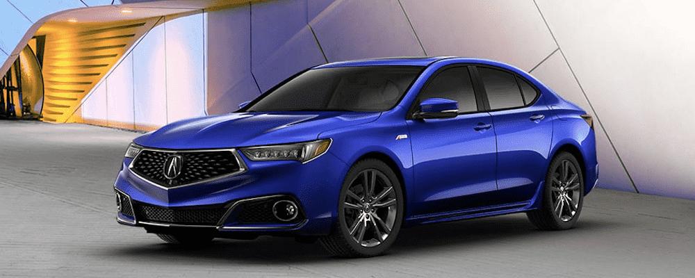 Blue Acura TLX