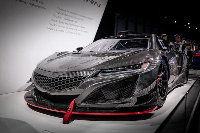 Acura NSX Gray, Black, Red