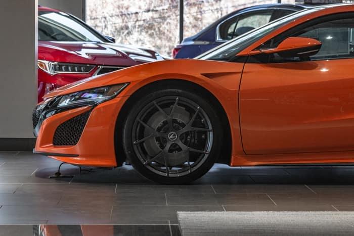 Orange Acura NSX