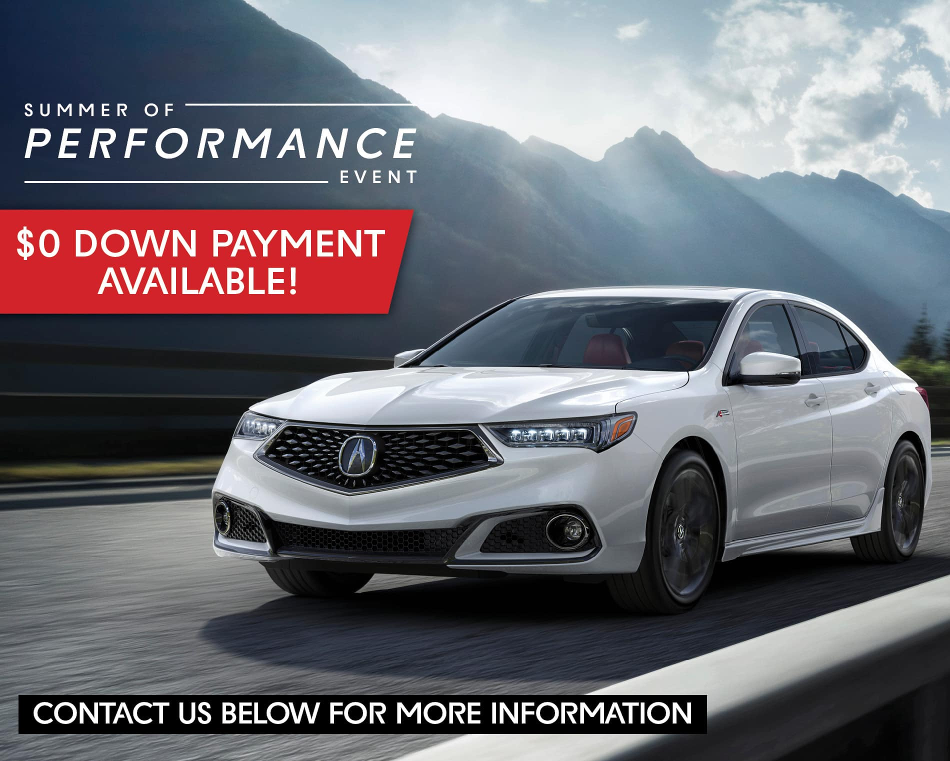 0 Down Car >> Zero Down Payment Available Rallye Acura