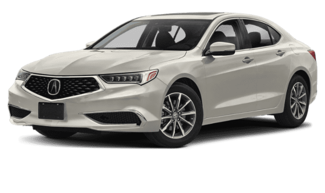 White 2020 Acura TLX Sideface