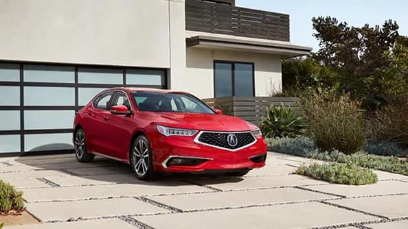 Acura in driveway