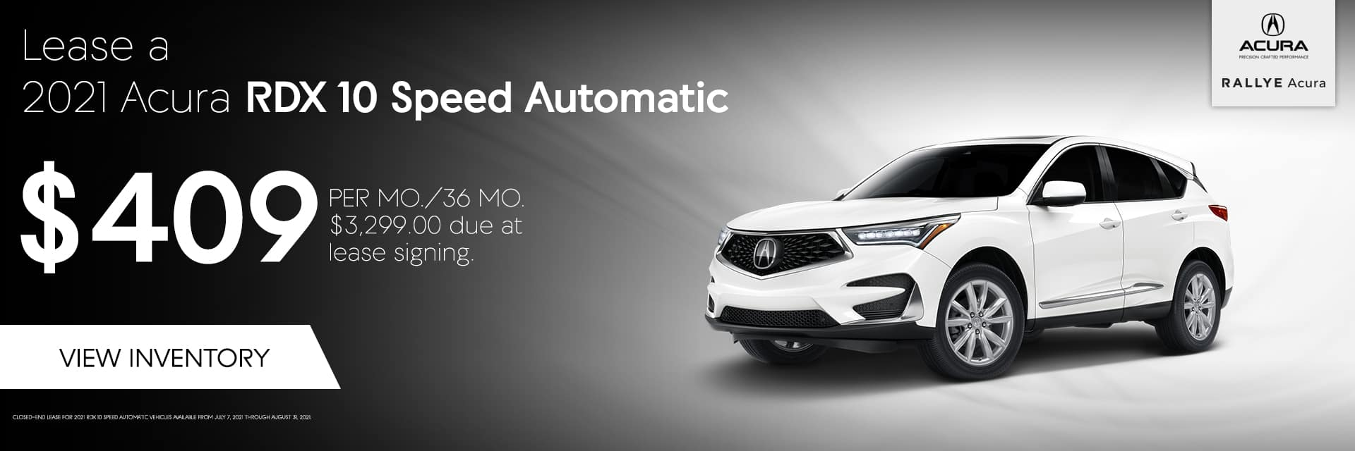 Lease a 2021 RDX 10 Speed Automatic