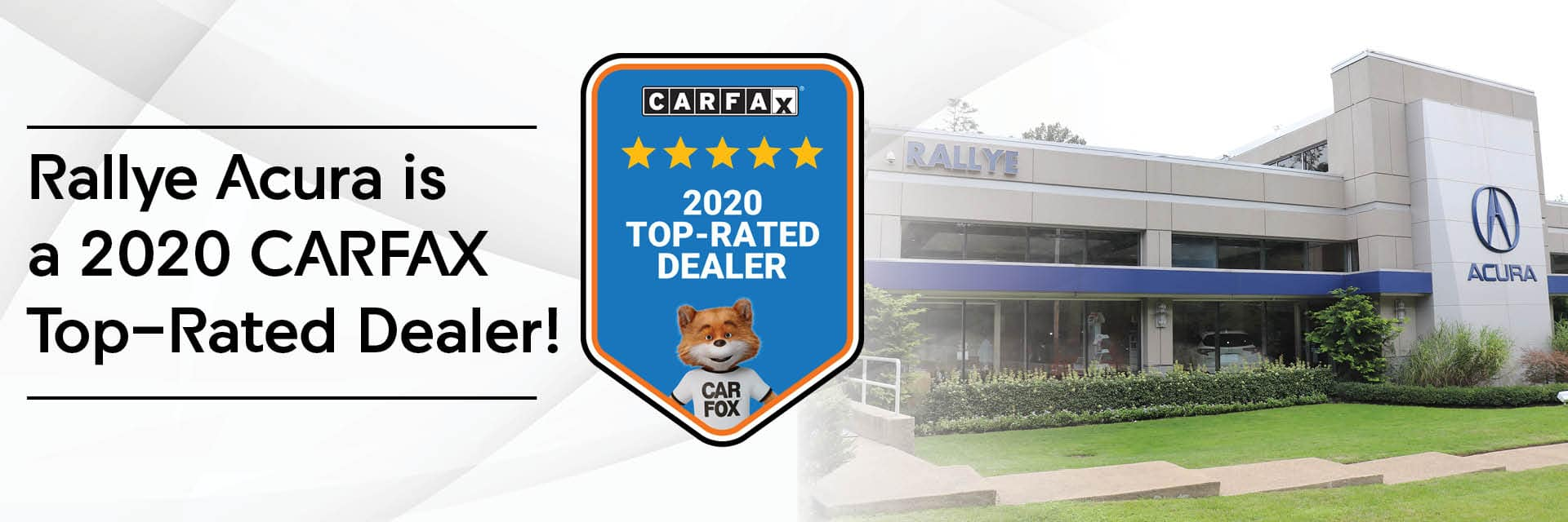 RallAC-293 CarFax Top-Rated Dealer Banners