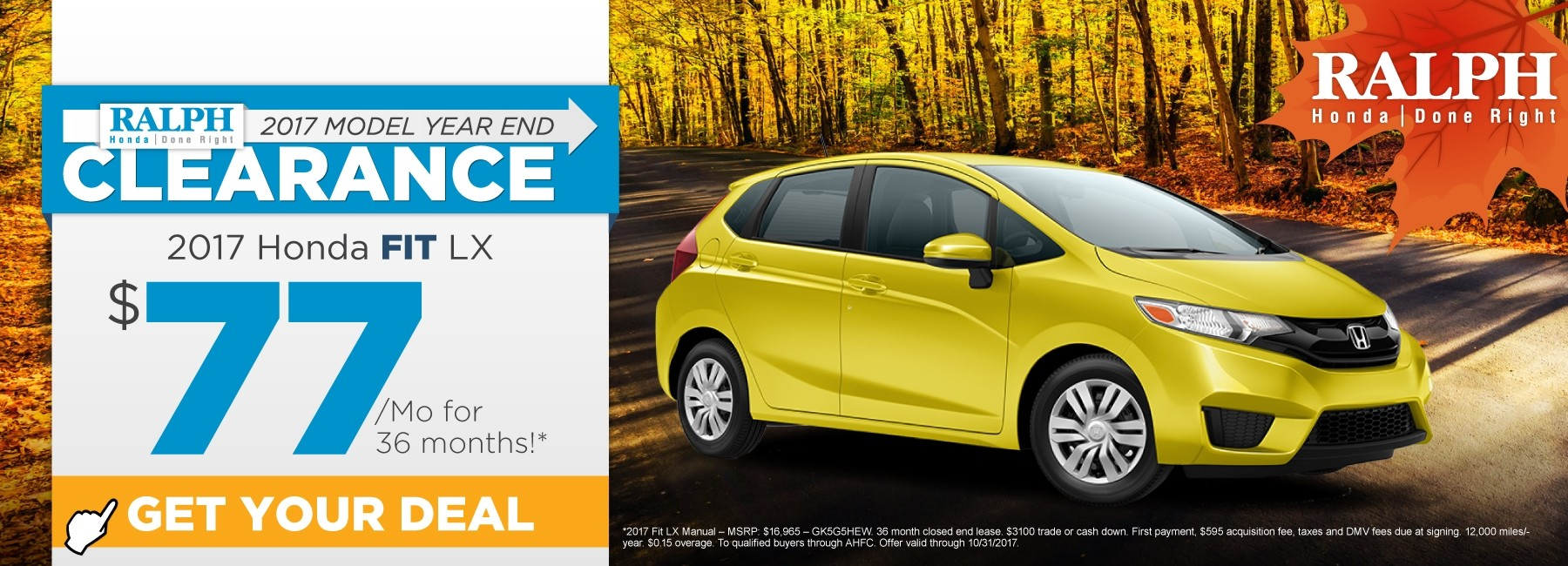 Honda lease specials for Honda fit lease price
