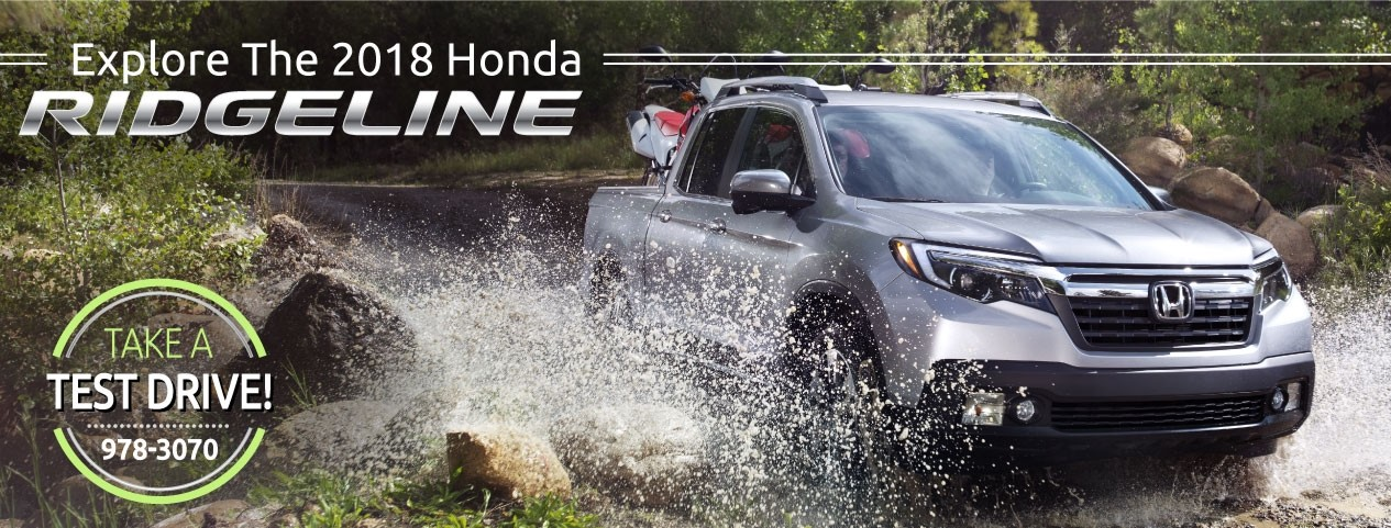 Header Photo of the new 2018 Honda Ridgeline