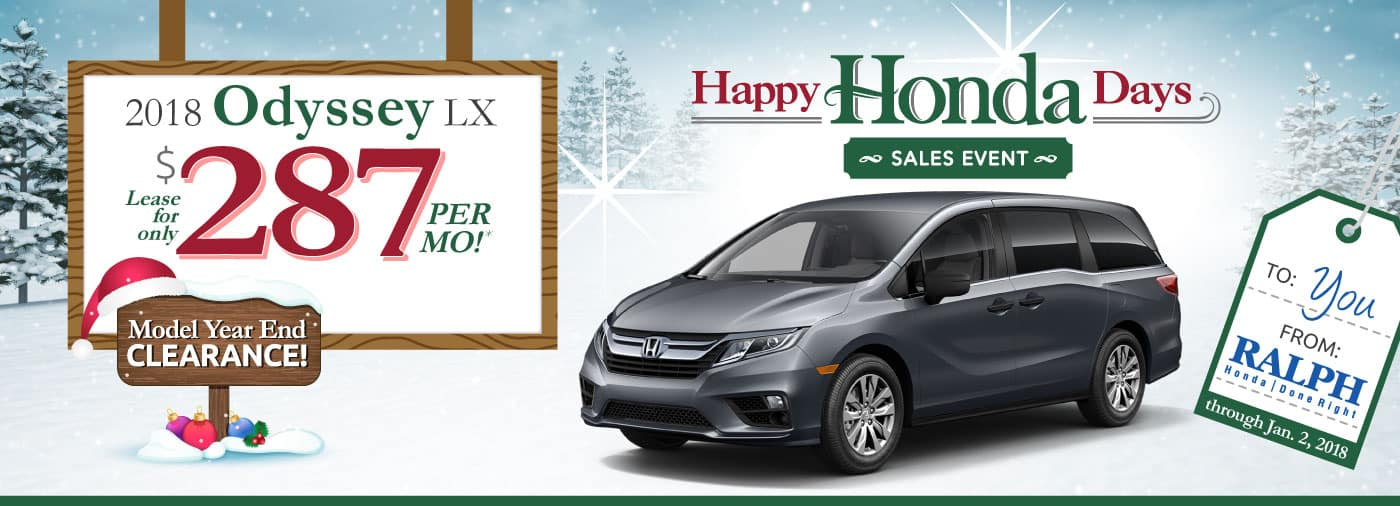 Header Photo of the new 2018 Honda Odyssey