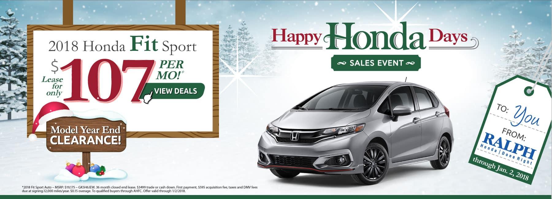 Honda lease specials for Honda fit deals