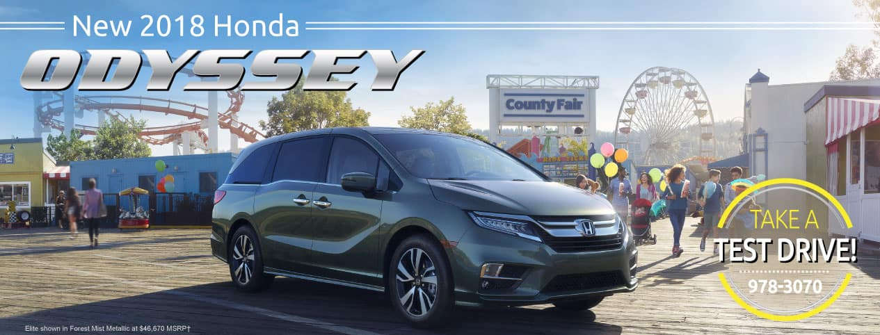 Header Photo of the new 2018 Honda Odyssey