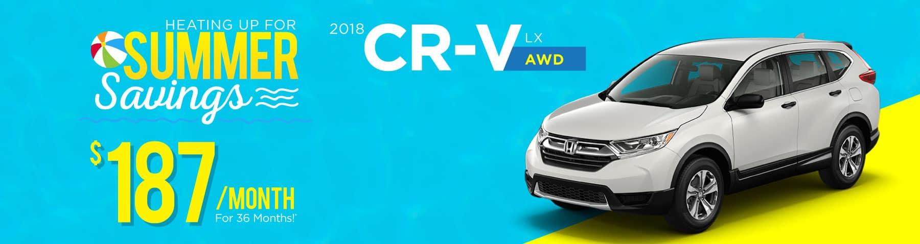 Header Photo of the new 2018 Honda CR-V