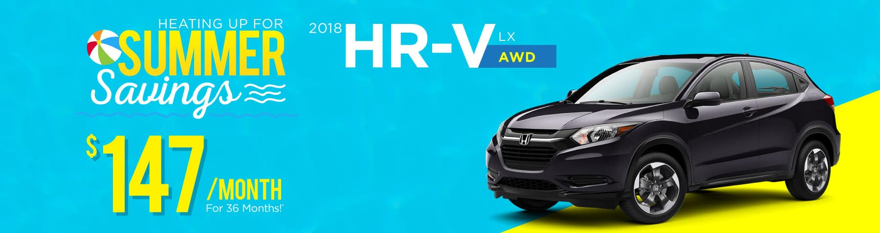 Header Photo of the new 2018 Honda HR-V