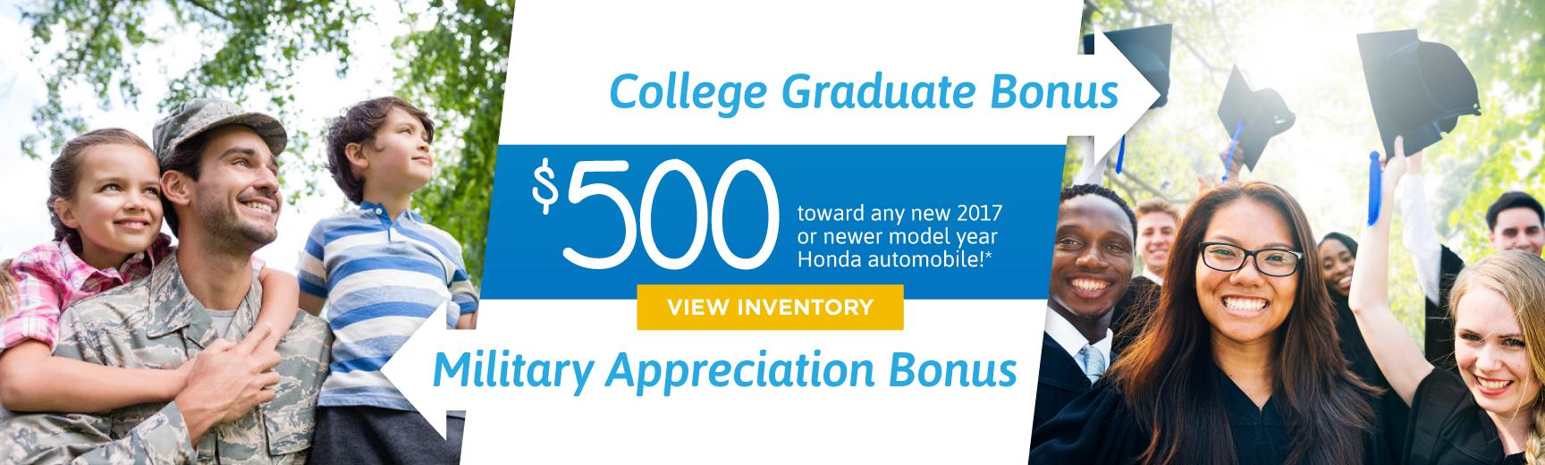 College Grad & Military Offer