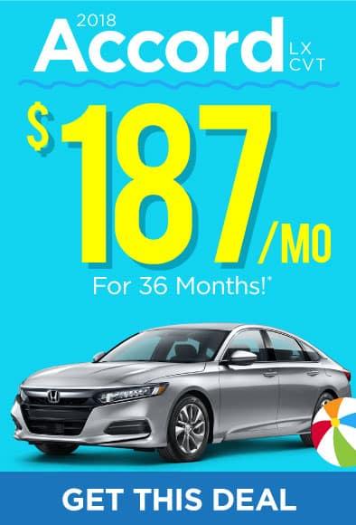 2018 Honda Accord Offer