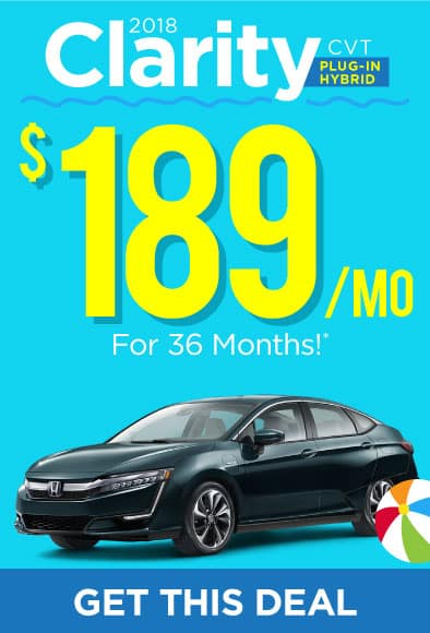 2018 Honda Clarity Offer