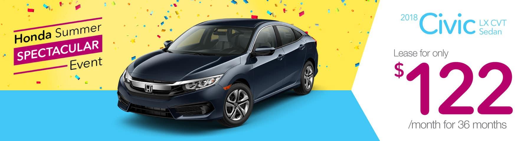 Header Photo of the new 2018 Honda Civic
