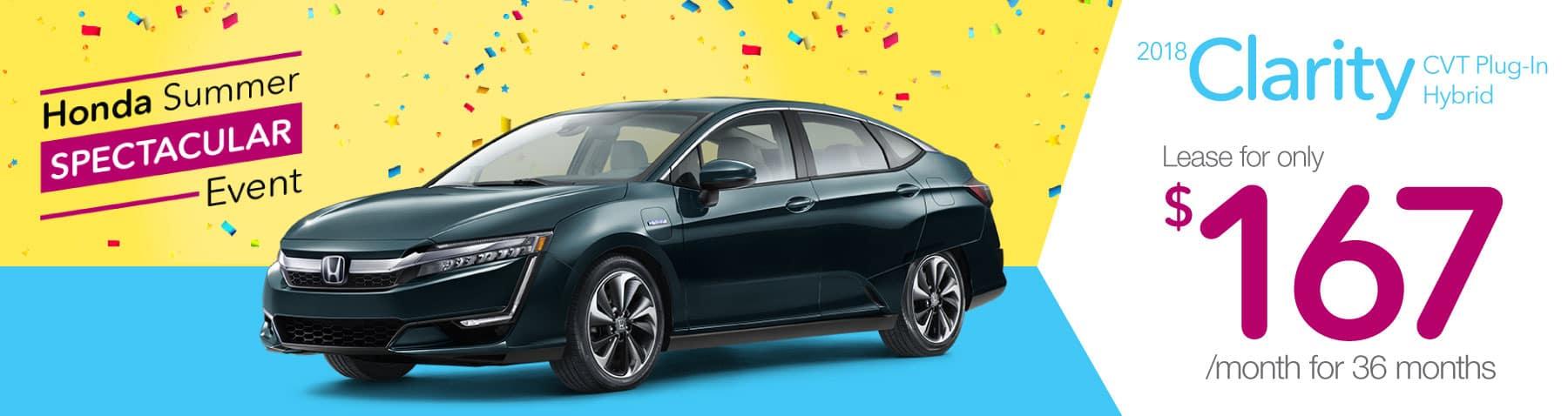 Header Photo of the new 2018 Honda Clarity