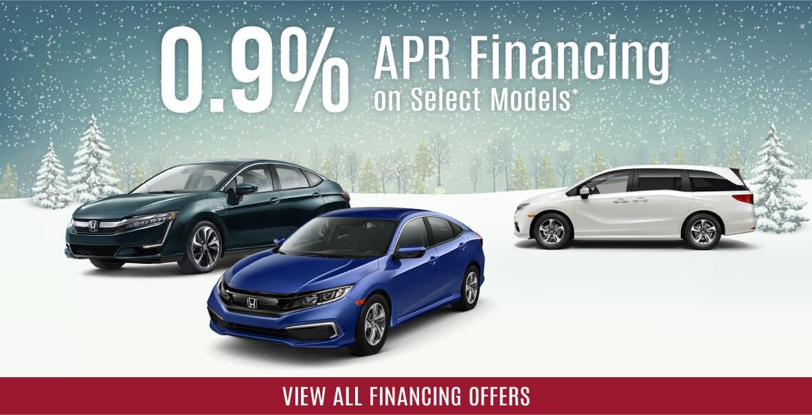 0.9% APR Financing