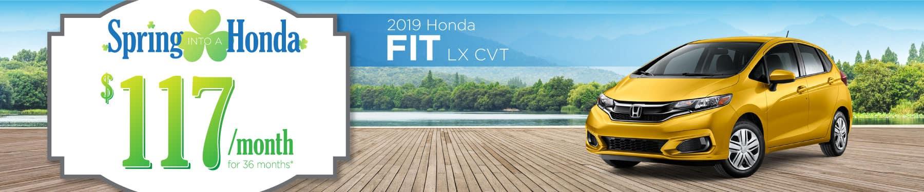 Header Photo of the 2019 Honda Fit